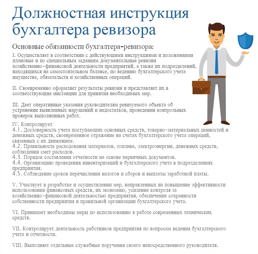 Должностная инструкция бухгалтера ревизора в ресторане