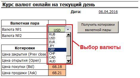 Курс валют онлайн в режиме реального времени