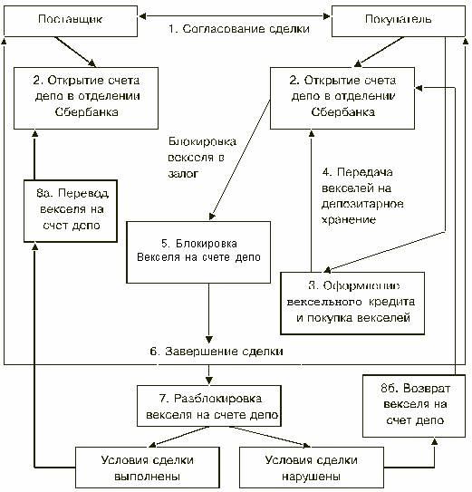 Схема работы с векселем: бухгалтерский учет векселей