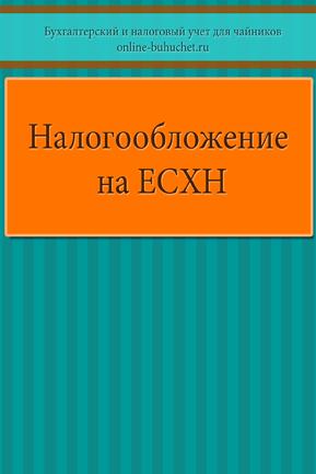 Налогообложение на ЕСХН