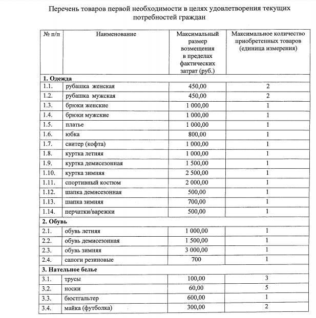 Товары, за покупку которых заплатят власти Башкирии