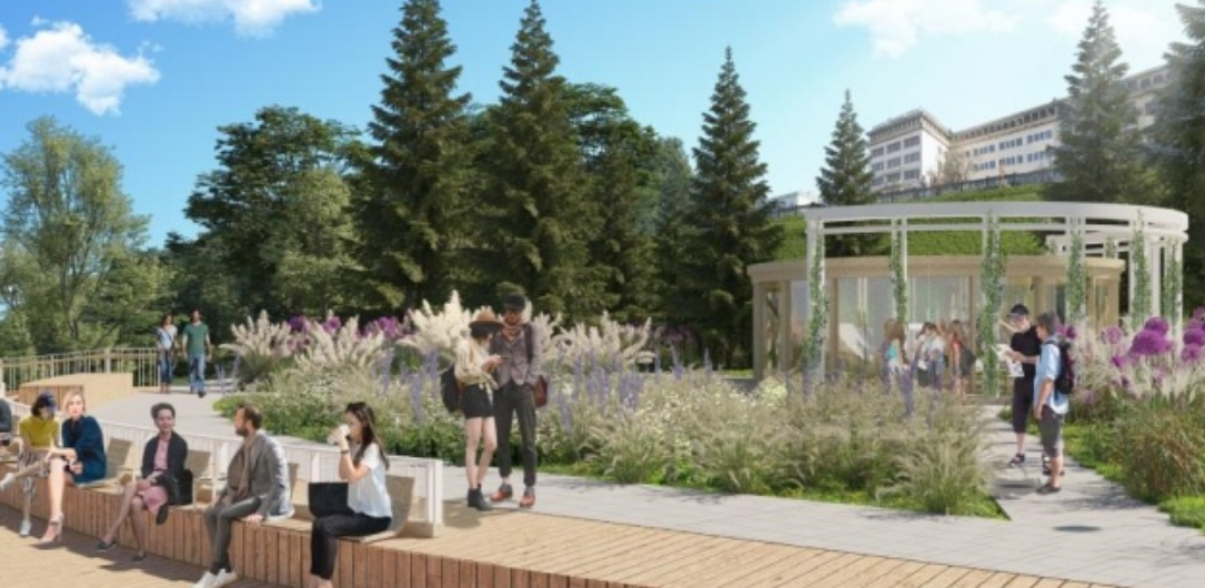 После реконструкции Александрийский сад в Нижнем Новгороде преобразиться