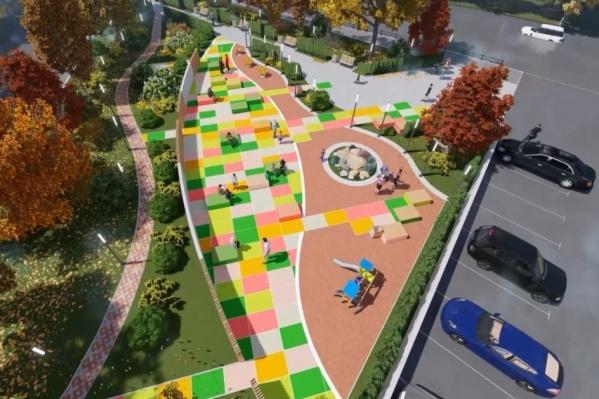 Дизайн-проект нового сквера в Перми